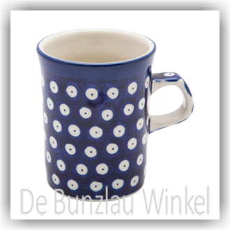 Bunzlau Rechte beker 250ml (1074) - Blue Eyes (71)