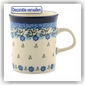 Bunzlau Rechte senseo beker 150ml (1328) - Royal Blue (1982)