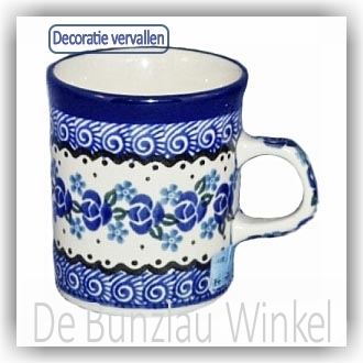 Bunzlau Rechte senseo beker 150ml (1328) - Fresh Water (882)